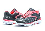 KINETIC 149002 Women\'s Comfortable Lace Up Light Weight Running Athletic Training Sneaker Shoes Grey-Coral Size 6