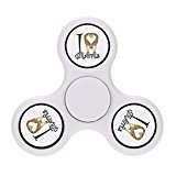 FINGIRL I Love Giraffe Hand Tri Fidget Spinner Toy High Speed Puzzle Focus Toys