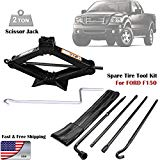 For (2004-2014) Ford F150 Spare Tire Lug Wrench Tool Kit Replacement & Scissor Jack 2 Tonne Heavy Duty