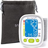 Balance Wrist Blood Pressure Monitor from GreaterGoods, Ultra Portable High Accuracy Readings with Easy-to-Read LCD, Two User Support and 2-Year Warranty